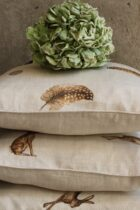 Hare and Feather and Egg Cushions