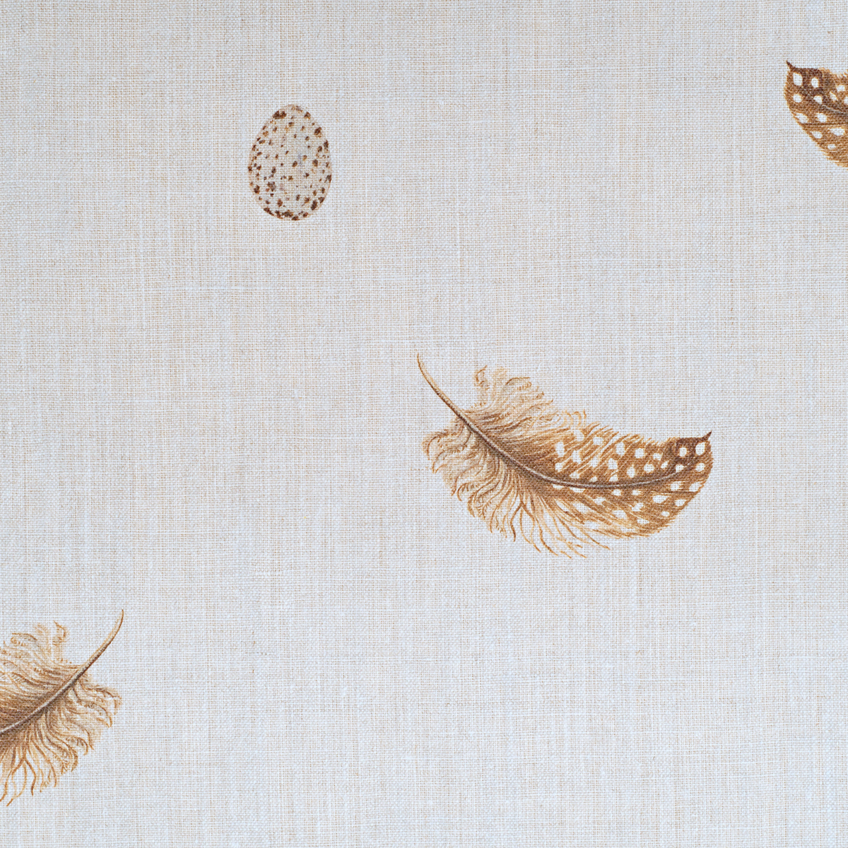 Feather Amp Egg Fabric On Cream Linen Peony Amp Sage