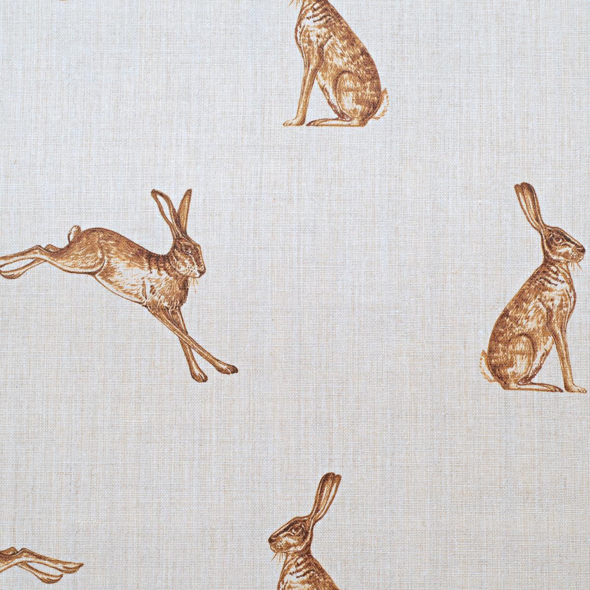 French Hares Fudge On Cream Linen