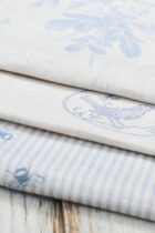 Powder Puff Blue Fabric Collection by Peony & Sage