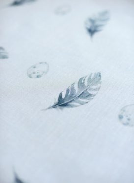 Bamburgh Feather & Egg Linen by Peony & Sage