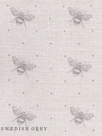 Just Bees Colourways Dove Or Swedish Grey On Cream Linen
