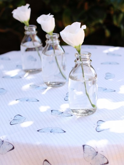 Butterflies on Oyster Linen