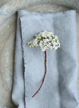 Slate Grey Chunky Stonewashed Linen