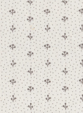 Sprigs Belgian Grey on White 001