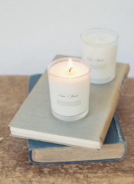 Lime and Basil Candles by Peony & Sage