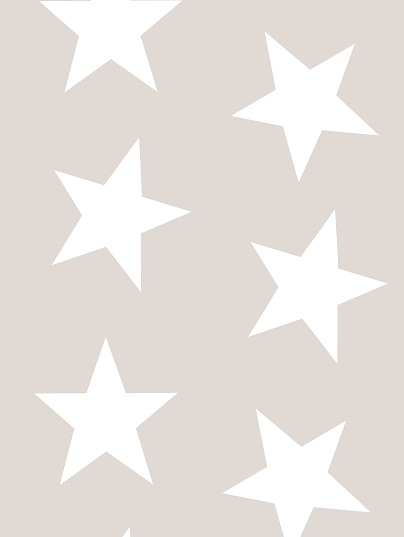Twinkle Twinkle Large Star Wallpaper In Shaded White