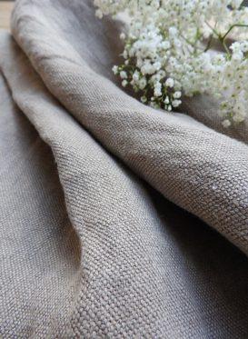 Chunky Stonewashed Linen Mink Grey