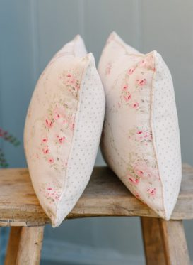 Mathilde in Rose and Thyme Cushions Peony & Sage