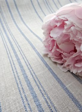 Skandi Stripe Forget Me Not Blue by Peony & Sage
