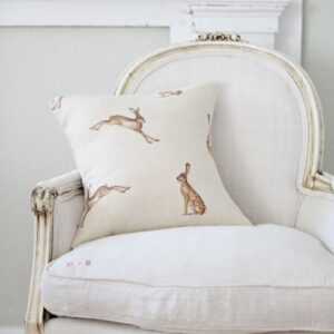 French Ticking Cushions Mia S Red 62 00 Peony Sage