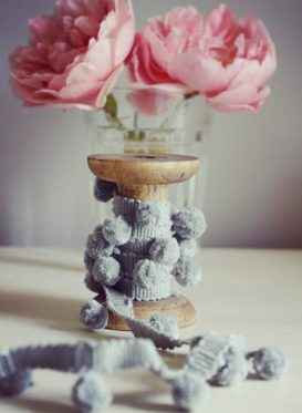 Light Gray Pom Poms by Peony and Sage