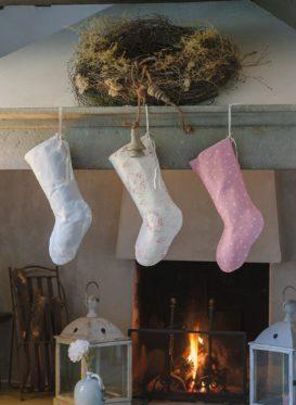 Peony and Sage Christmas Stockings