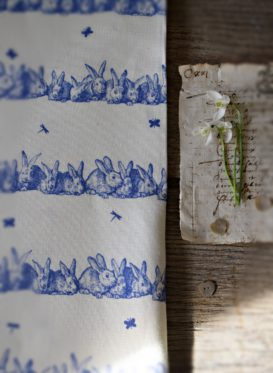 Hip hop Spode Blue Linen by Peony & Sage