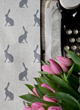 Storm Grey Mini Hares by Peony and Sage
