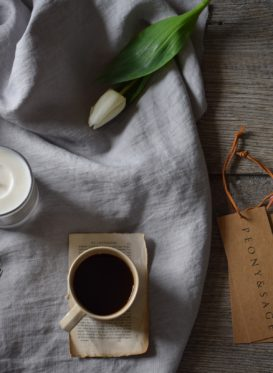 powder grey Hygge linen by Peony and Sage