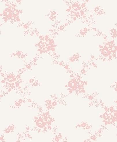 Giardino Blush Pink On White Wallpaper