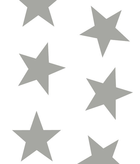 twinkle twinkle lead grey stars on white background