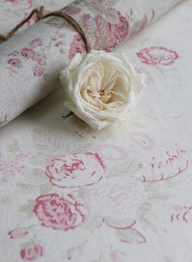 Peony & Sage Bella Rosa on Ivory Linen