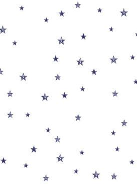 Tiny Stars Navy On White Wallpaper