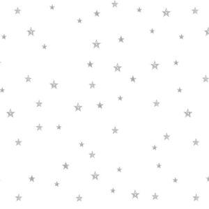 Tiny Stars Dark Grey On White Wallpaper