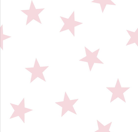 pink star wallpaper  Stars in Space Pale Pink Icing on White Wallpaper - Peony