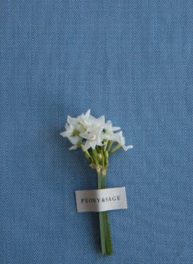 Plain Chevron Porcelain Blue P&S