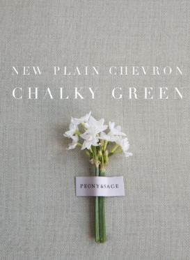 chalky green chevron