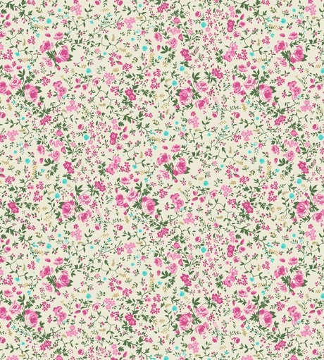Ditsy Delilah Mint French Blossom Wallpaper