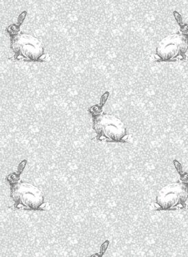 Delilah's Rabbit ~ Charcoal and Pencil Wallpaper